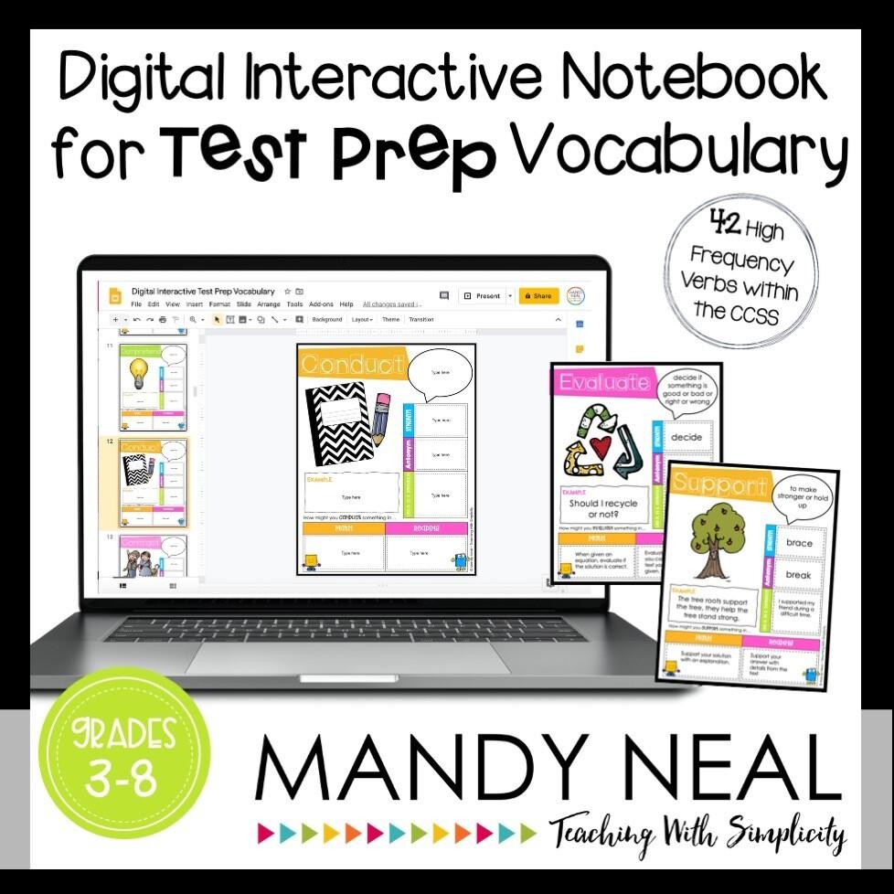 Math Test Prep and Reading Test Prep Vocabulary