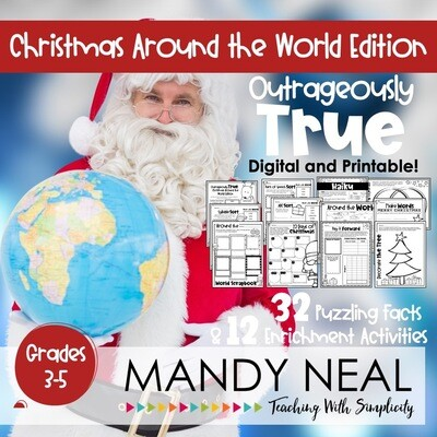 Outrageously True ~ Christmas Around the World | Distance Learning