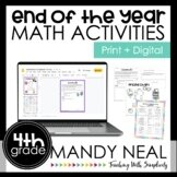 Fourth Grade End of the Year Math Activities   Games