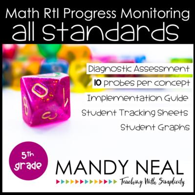 5th Grade Math Intervention Assessments