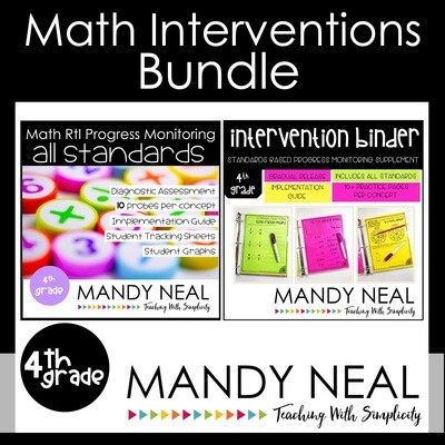 4th Grade Math Interventions Standards Based Bundle