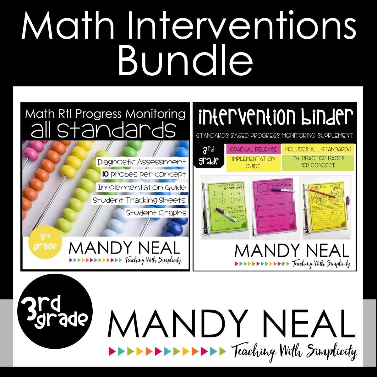3rd Grade Math Interventions Standards Based Bundle