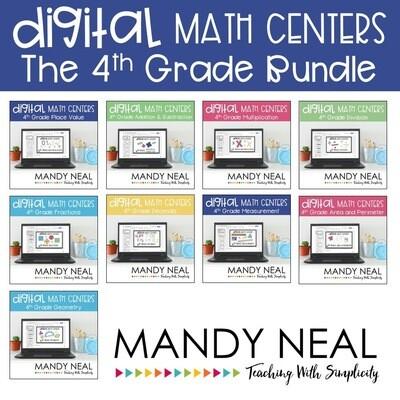 Fourth Grade Digital Math Centers Bundle