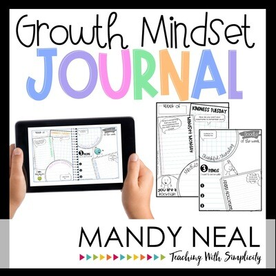 Growth Mindset Journal Activities | Digital + Printable
