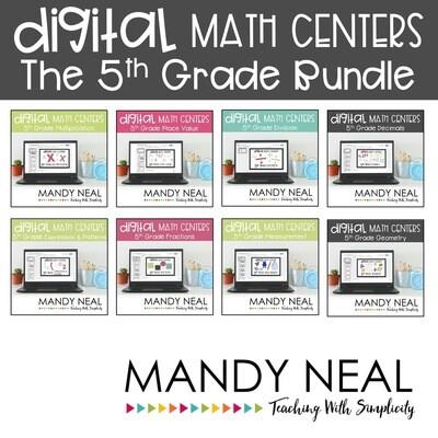 Fifth Grade Digital Math Centers Bundle