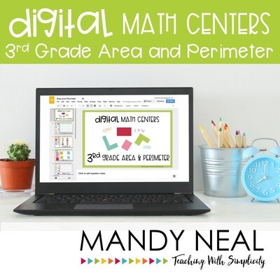 Third Grade Digital Math Centers Area and Perimeter