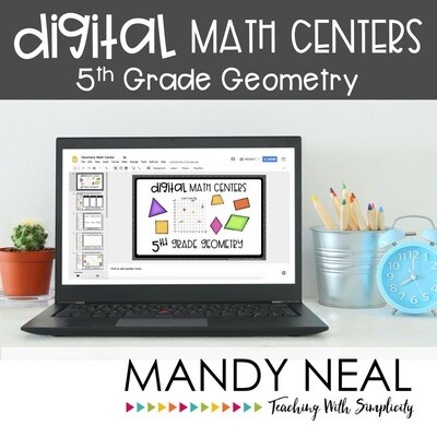 Fifth Grade Digital Math Centers Geometry | Distance Learning