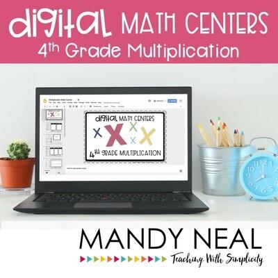 Fourth Grade Digital Math Centers Multiplication