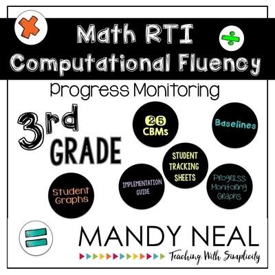 3rd Grade Math RTI Computational Fluency Progress Monitoring