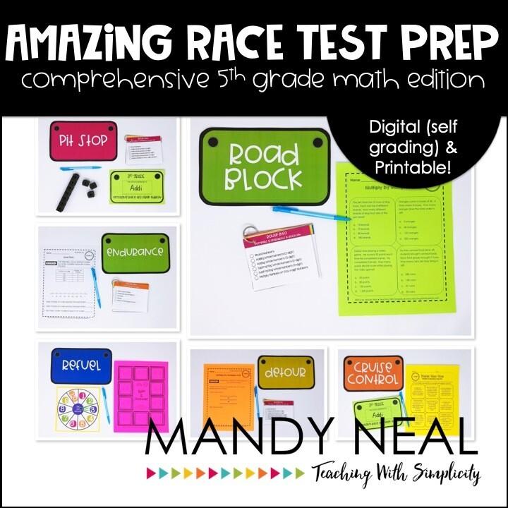 5th Grade Math Test Prep Review