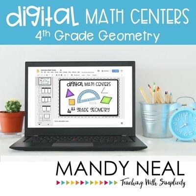 Fourth Grade Digital Math Centers Geometry