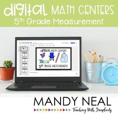 Fifth Grade Digital Math Centers Measurement