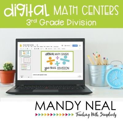 Third Grade Digital Math Centers Division