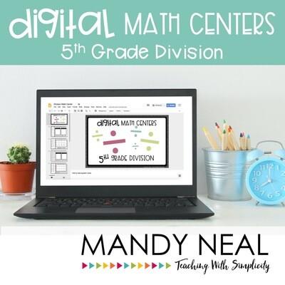 Fifth Grade Digital Math Centers Division