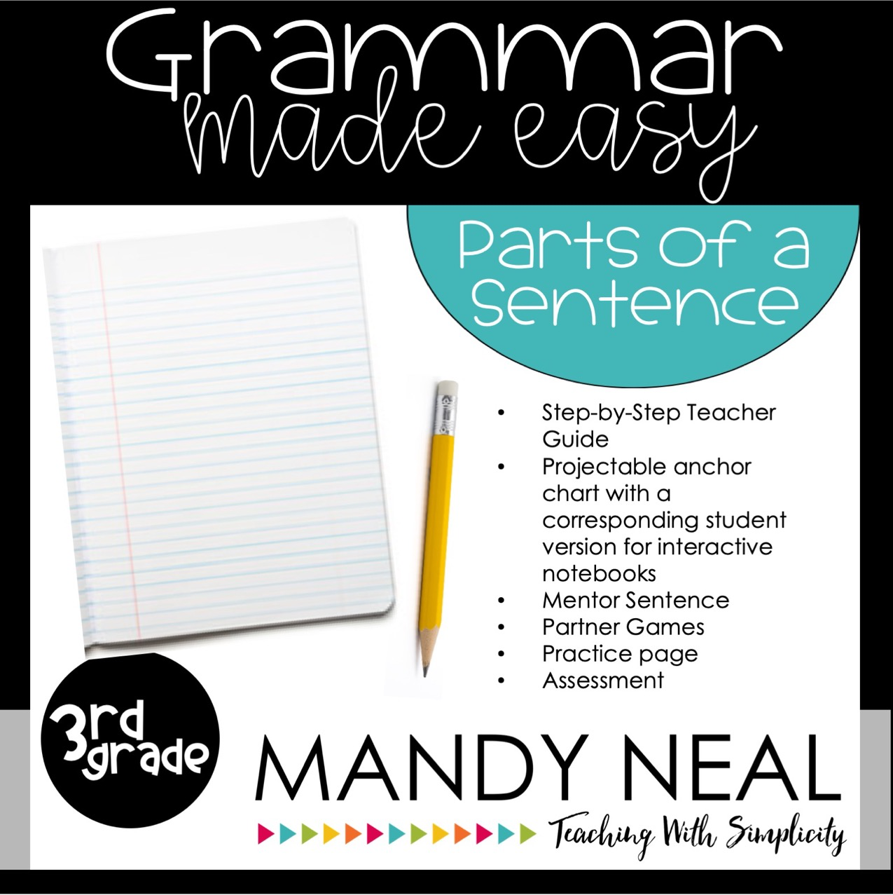 Third Grade Grammar Activities (Parts of a Sentence)