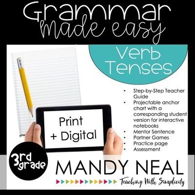 Print + Digital Third Grade Grammar (Verb Tenses)