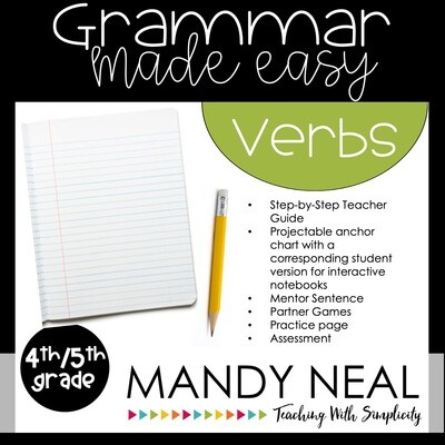 Fourth and Fifth Grade Grammar Activities (Verbs)
