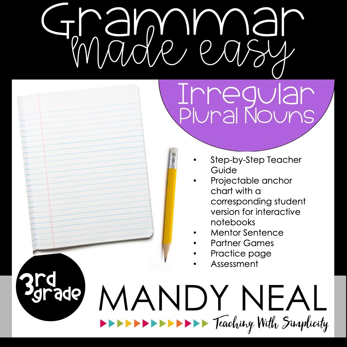 Third Grade Grammar Activities (Irregular Plural Nouns)