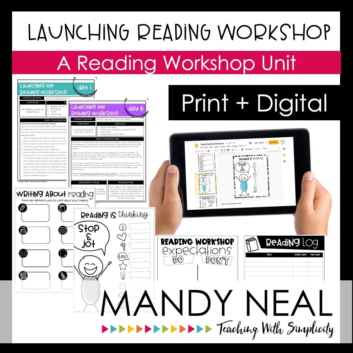 Launching Reading Workshop in Grades 3-5 Print + Digital Bundle