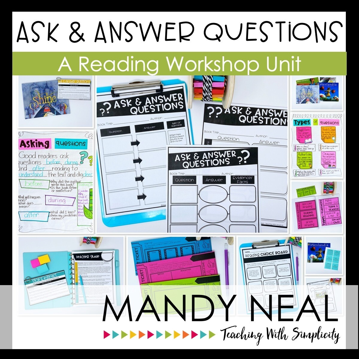 Ask and Answer Questions Reading Workshop Unit (Printable)