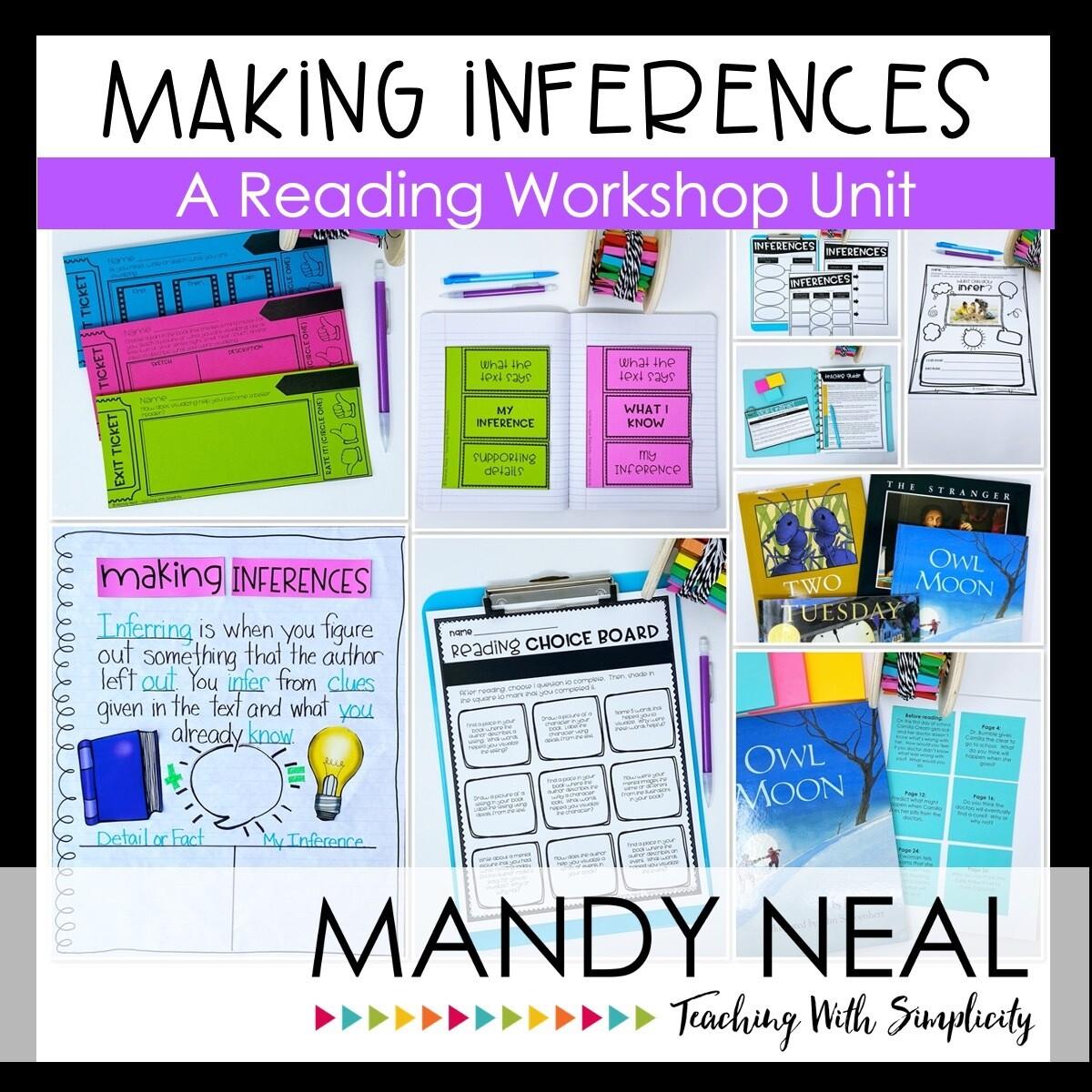 Making Inferences Reading Workshop Unit (Printable)