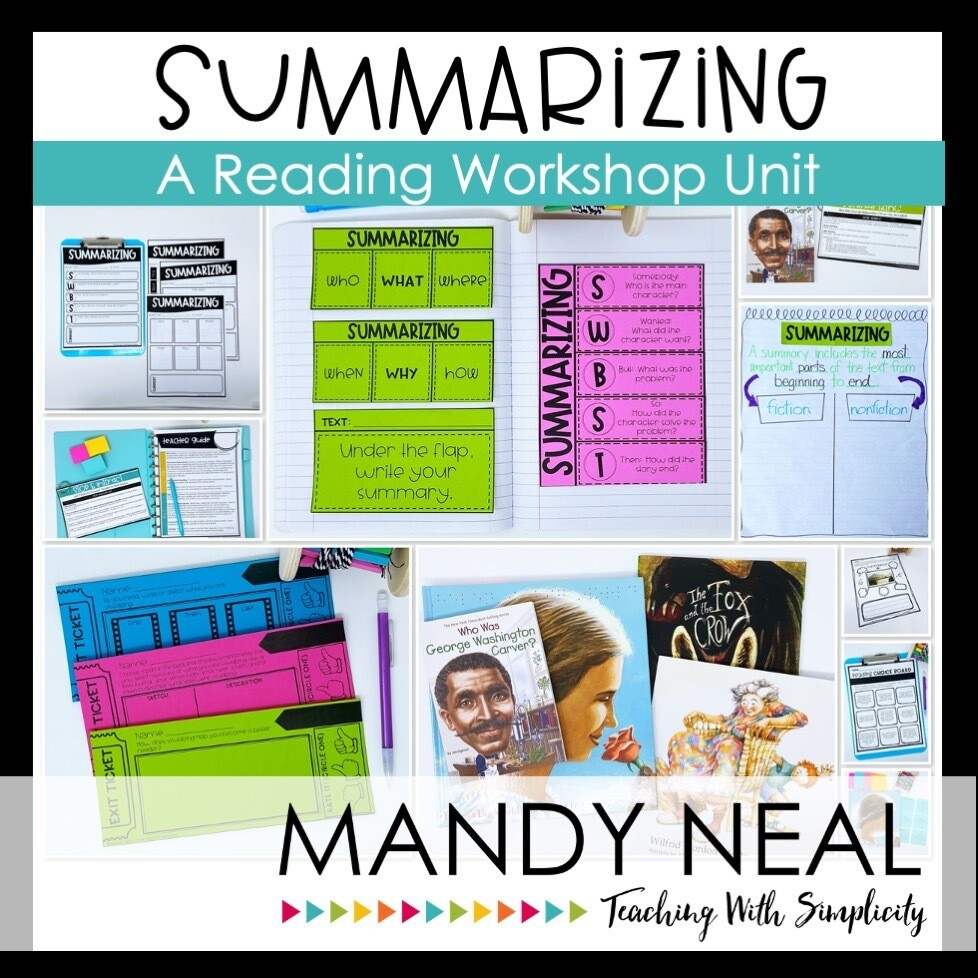 Summarizing Reading Workshop Unit (Printable)