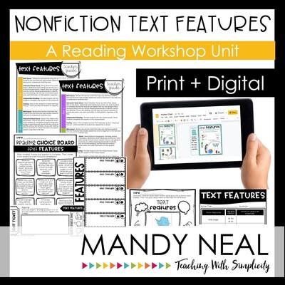 Nonfiction Text Features Reading Workshop Unit | Print + Digital