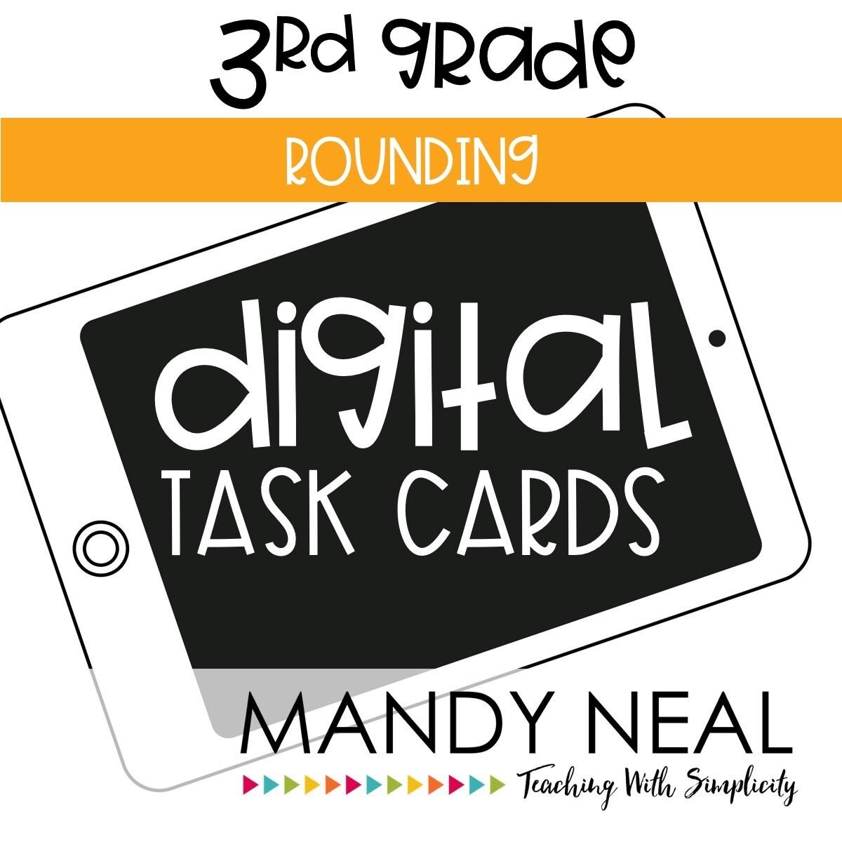 Third Grade Digital Math Task Cards ~ Rounding