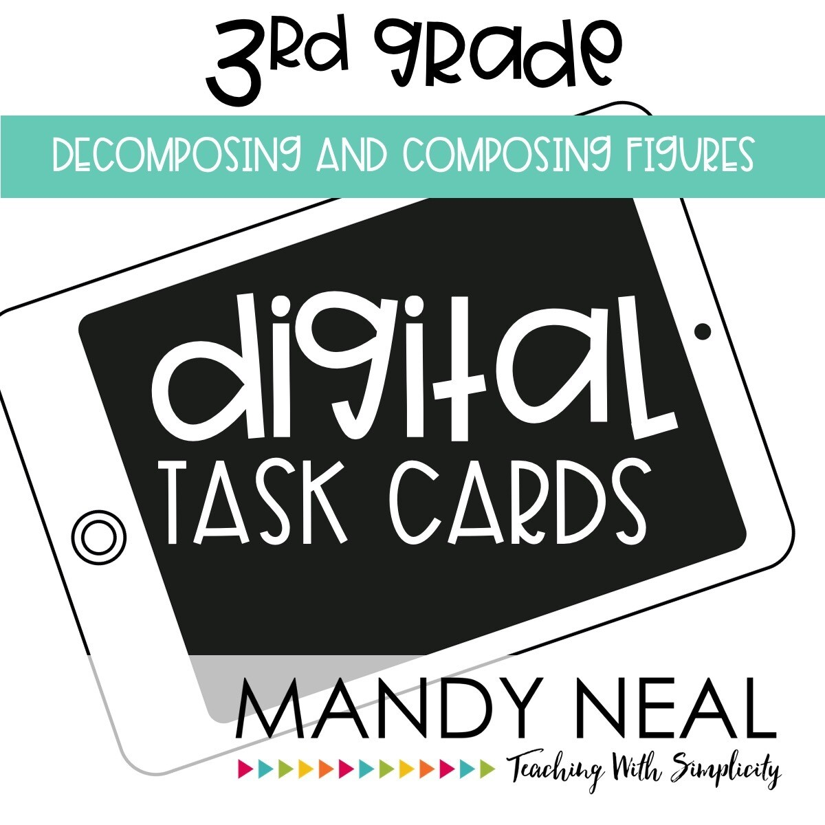 Third Grade Digital Math Task Cards ~ Decomposing and Composing Figures