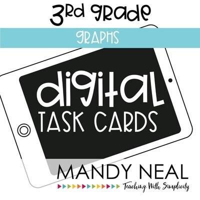 Third Grade Digital Math Task Cards ~ Graphs