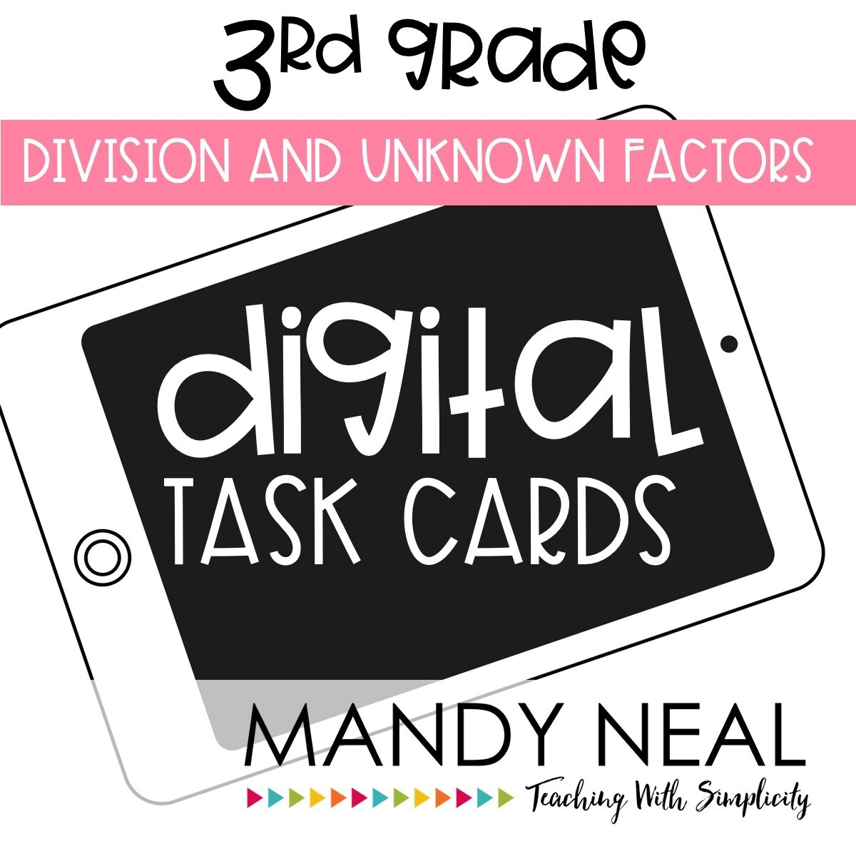 Third Grade Digital Math Task Cards ~ Division and Unknown Factors