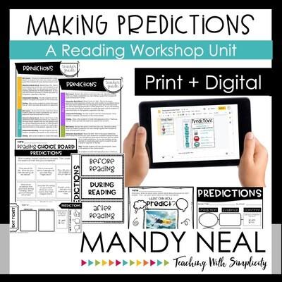 Making Predictions Reading Workshop Unit Print + Digital Bundle