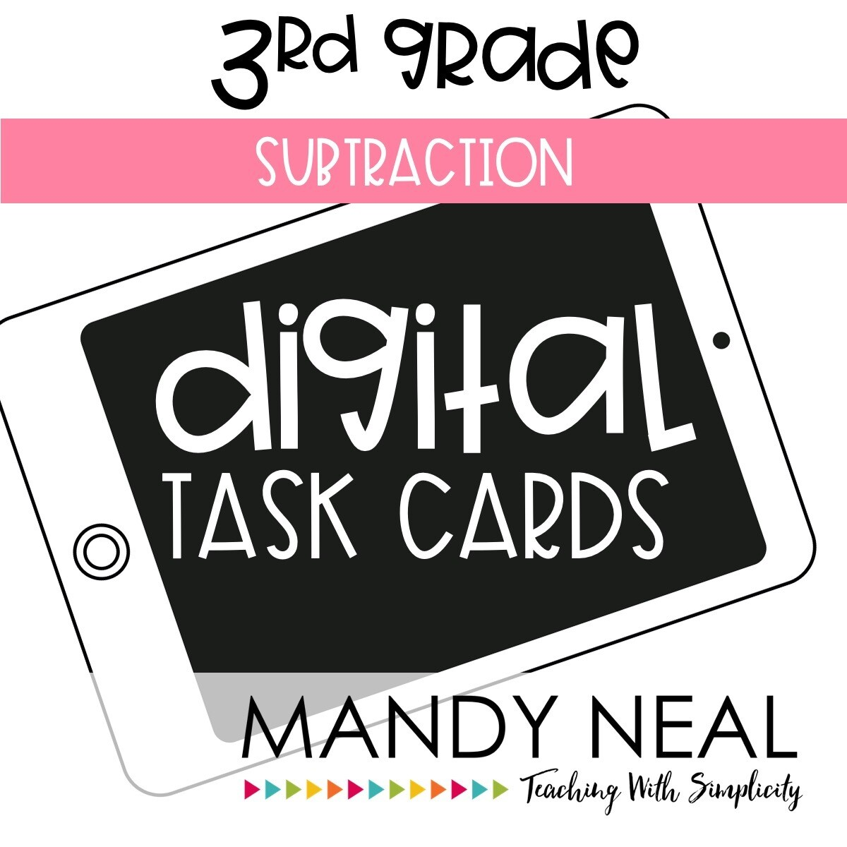 Third Grade Digital Math Task Cards ~ Subtraction