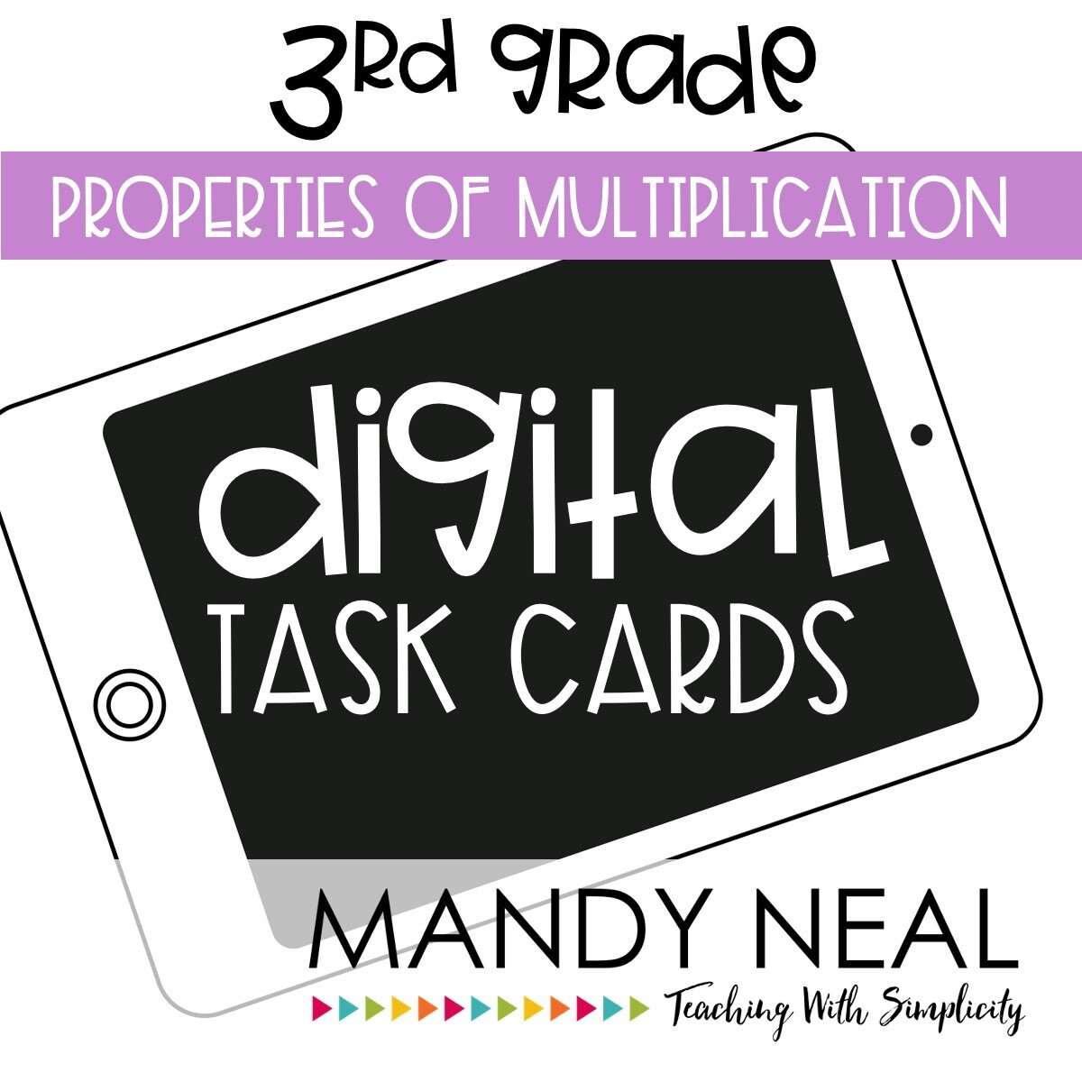 Third Grade Digital Math Task Cards ~ Properties of Multiplication