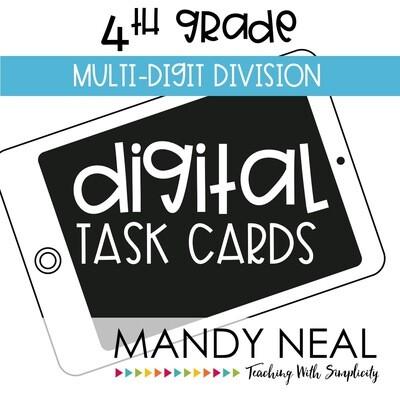 Fourth Grade Digital Math Task Cards ~ Multi-Digit Division