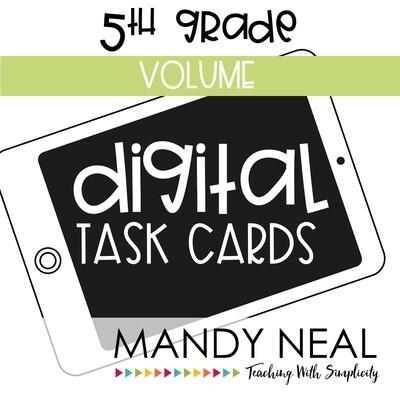 Fifth Grade Digital Math Task Cards ~ Volume