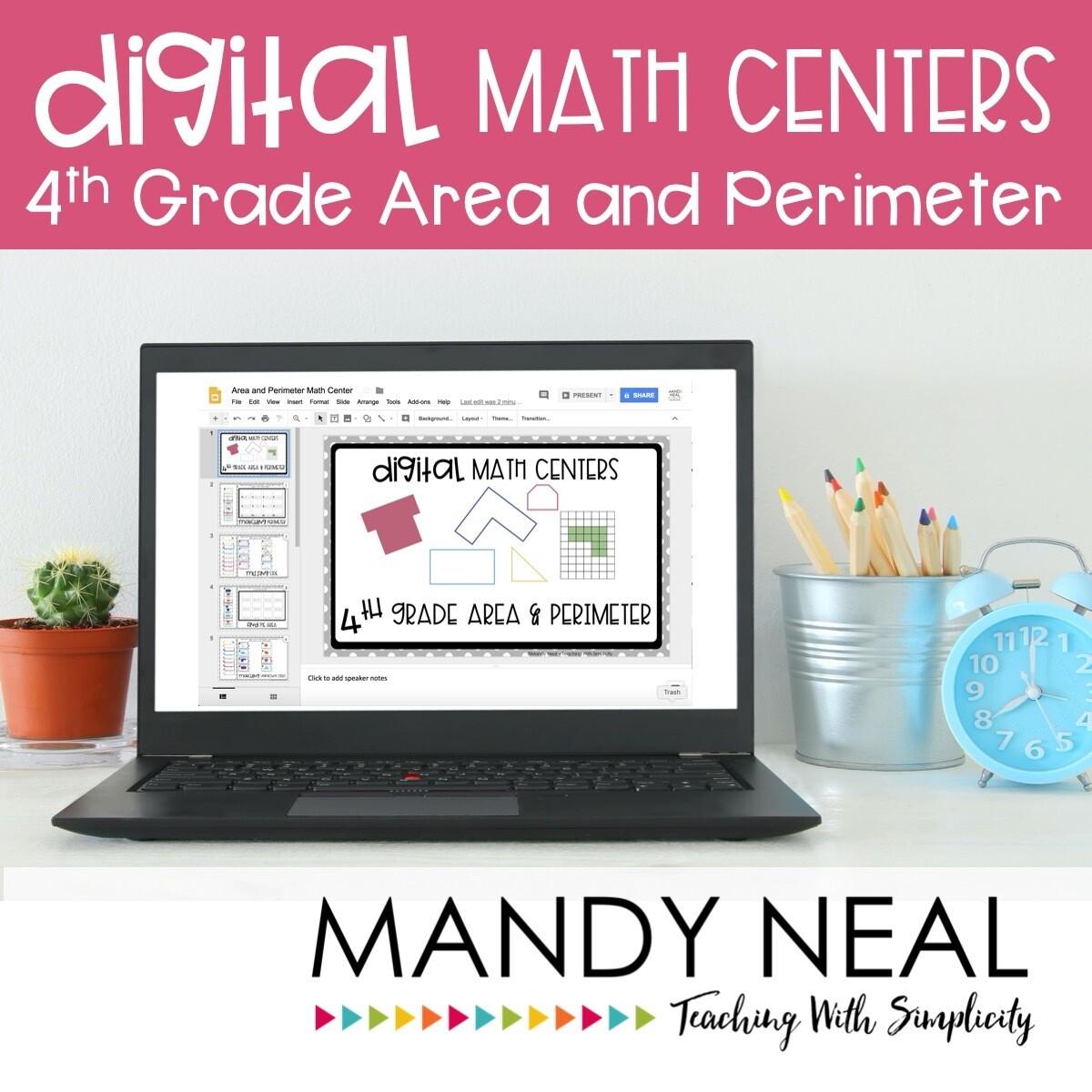 Fourth Grade Digit Math Centers Area and Perimeter
