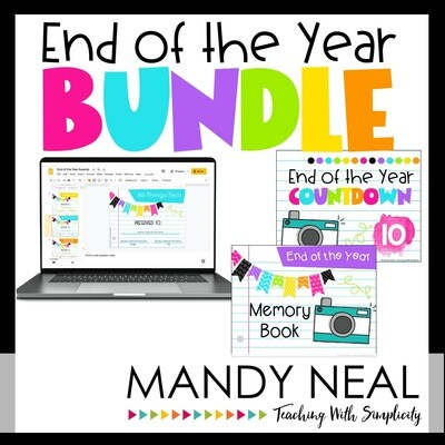 End of the Year Activities, Awards, and Memory Book Bundle