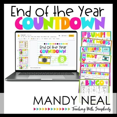 Digital End of the Year Countdown Activities
