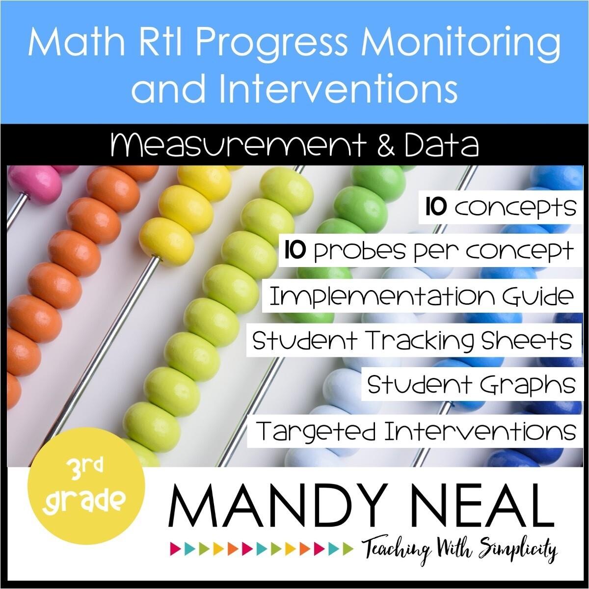 3rd Grade Math Intervention Assessments & Intervention Binder for MD Bundle