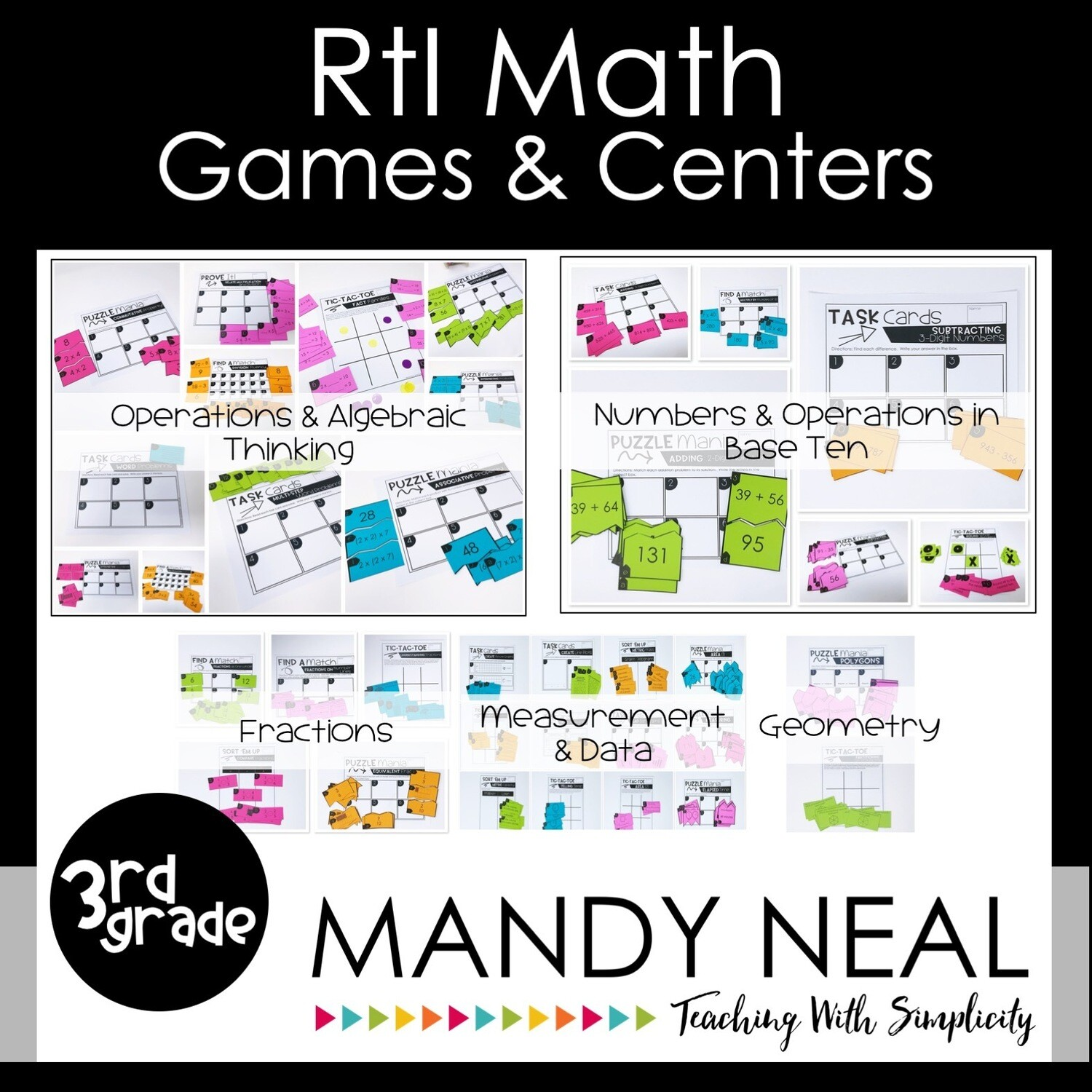 3rd Grade Math Intervention Games and Centers