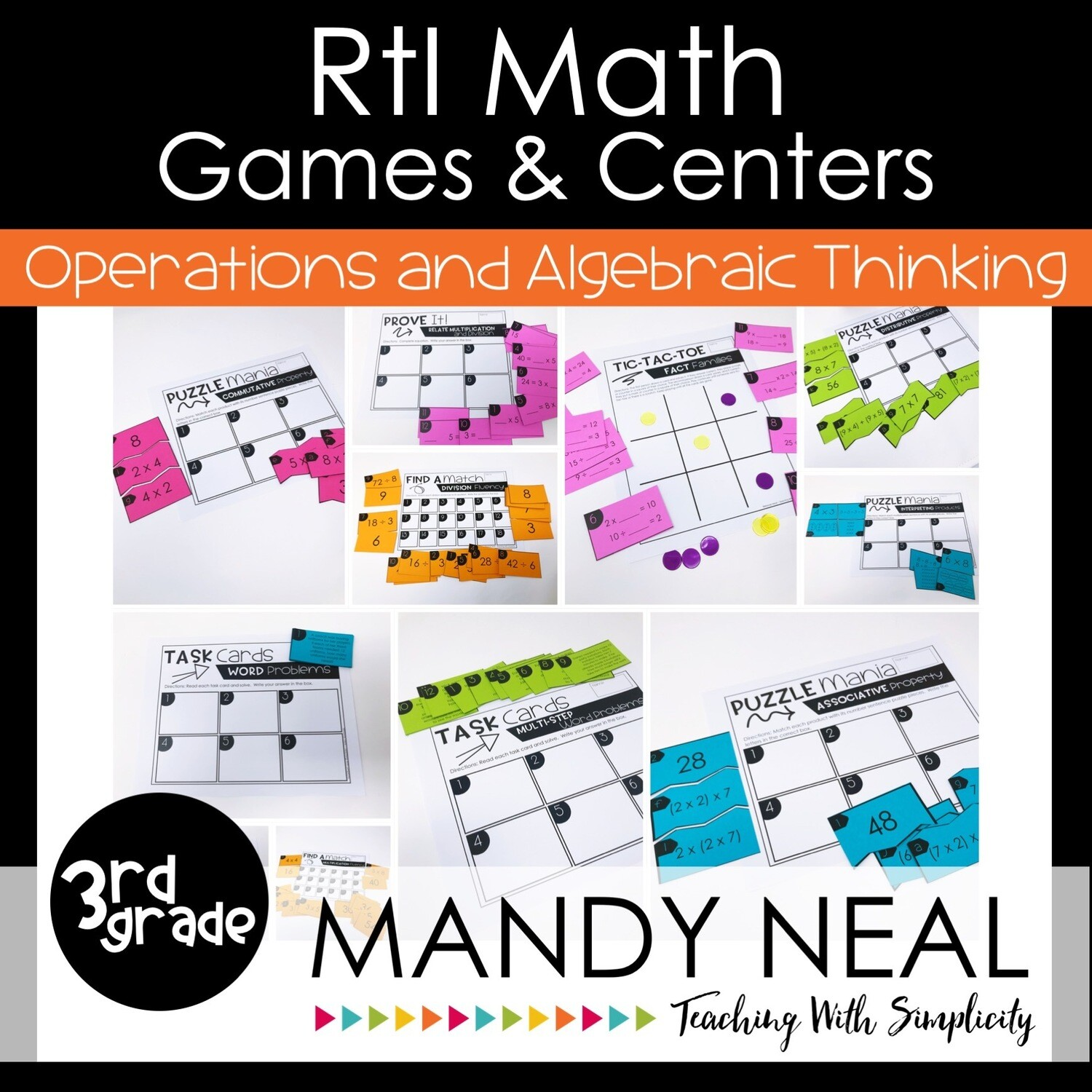 3rd Grade Math Intervention Games and Centers for OA