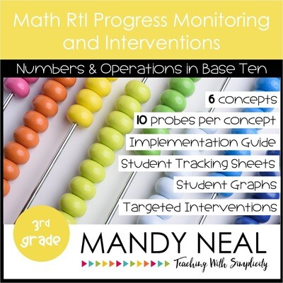 3rd Grade Math Intervention Assessments & Intervention Binder for NBT Bundle