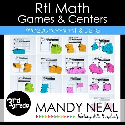 3rd Grade Math Intervention Games and Centers for Measurement & Data