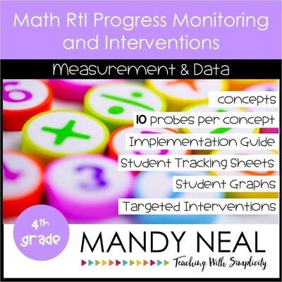 4th Grade Math Intervention Assessments & Intervention Binder for MD Bundle