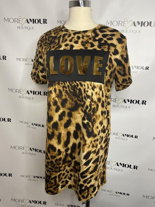 Love leopard t-shirt mini