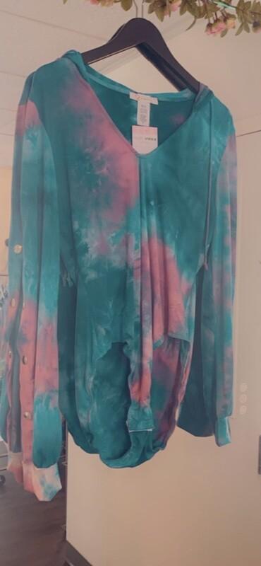 Tie dye bodysuit (curvy)