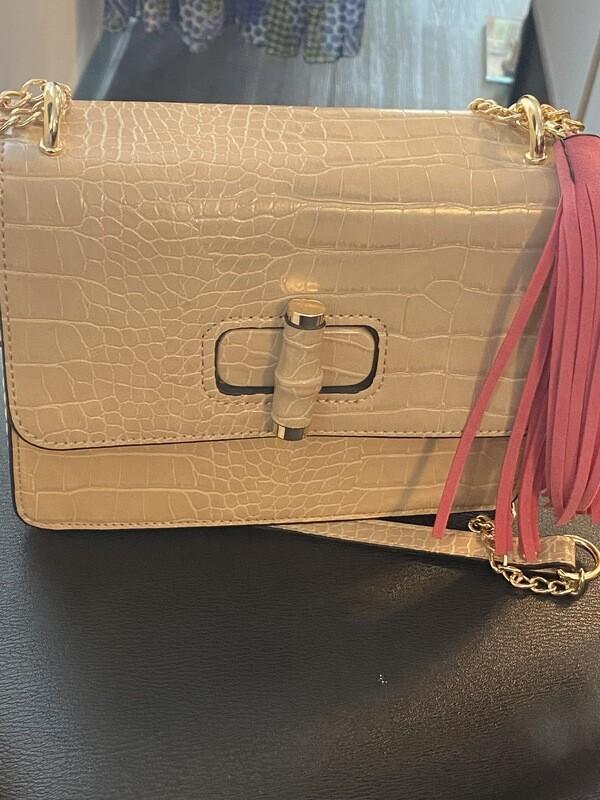 Croc tassle handbag