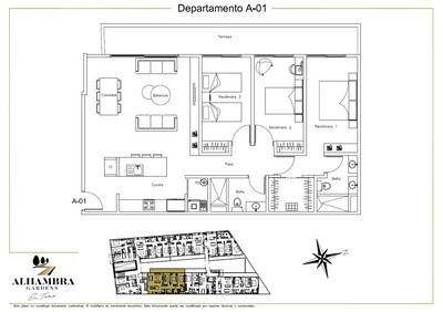 APARTADO A01 - $4,150,000 (3Rec-113m2-Nivel PB-Terraza)