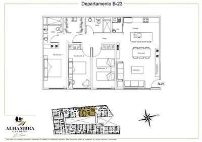 APARTADO B23 - $4,000,000 (3Rec-105m2-Nivel 2-RG)